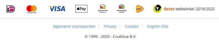 Verschillende keurmerken van webshop